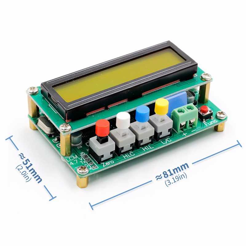 Facibom Lc100-A Digital Lcd High Precision Inductance Capacitance L//C Meter Capacitor Tester Frequency 1Pf-100Mf 1Uh-100H Lc100-A Test Clip