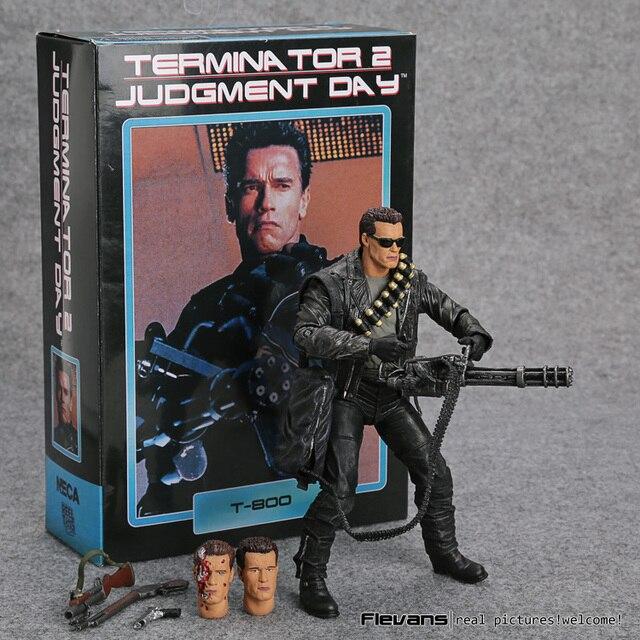 """NECA שליחות קטלנית 2: יום דין T 800 ארנולד שוורצנגר PVC פעולה איור אסיפה דגם צעצוע 7 """"18cm"""