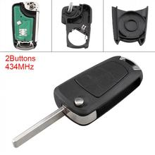 433MHz 2 Buttons Keyless Uncut Flip Remote Key Fob PCF7941 Chip for Opel (Vauxhall) Corsa D 2007-2012 New Listing цена и фото