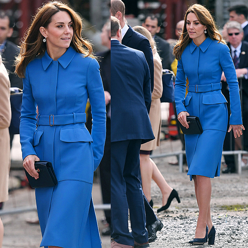 Dress Trench-Coat Runway Spring Kate Middleton Vintage Elegant Autumn Fashion Women's title=