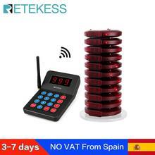 Retekess T119 مطعم بيجر مع 10 جهاز استقبال بيجر ل مقهى عيادة طابور نظام الترحيل نظام الاتصال مطعم بيجر