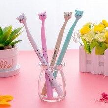 Creative cat gel cute 0.5 black needle pen cartoon creative stationery