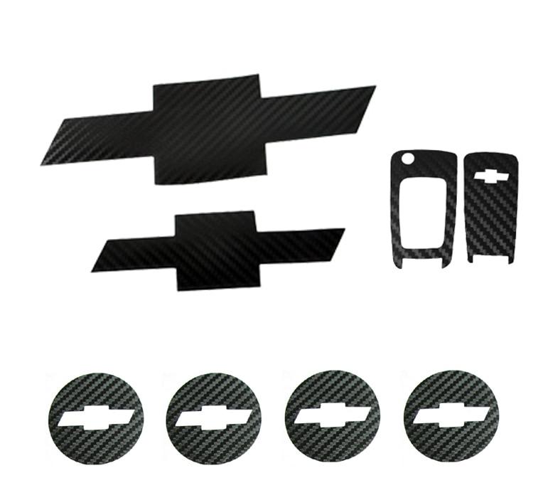 Передняя и задняя Эмблема Ступица колеса колпачки ключ из углеродного волокна Эмблема Наклейка для Chevrolet CRUZE 2010 2012 автомобильные стильные а...
