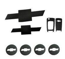 Frente traseiro emblema centro da roda hub tampas chave de fibra carbono emblema adesivo para chevrolet cruze 2010 2012 carro stying acessórios