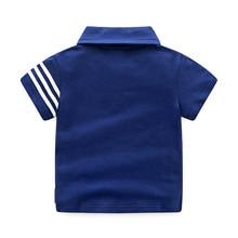 Детская футболка с Короткими Рукавами Летняя Повседневная Спортивная футболка с короткими рукавами в Корейском стиле детская футболка-поло с короткими рукавами для мальчиков