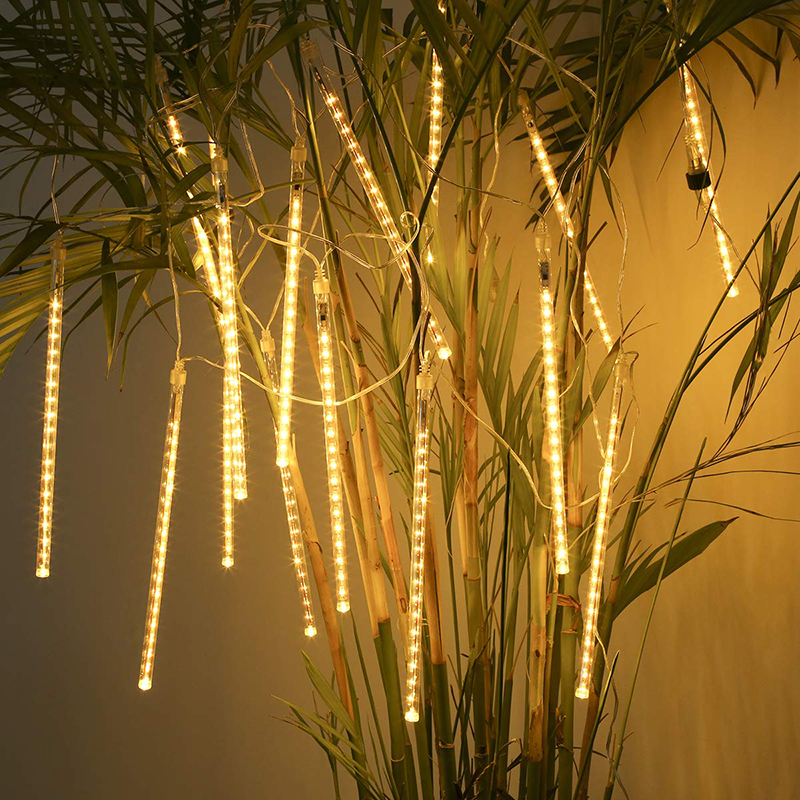 Waterproof 30cm 50cm  8 Tube Meteor Shower Rain LED String Lights  Outdoor Christmas Garland For Wedding Party Garden Decoration