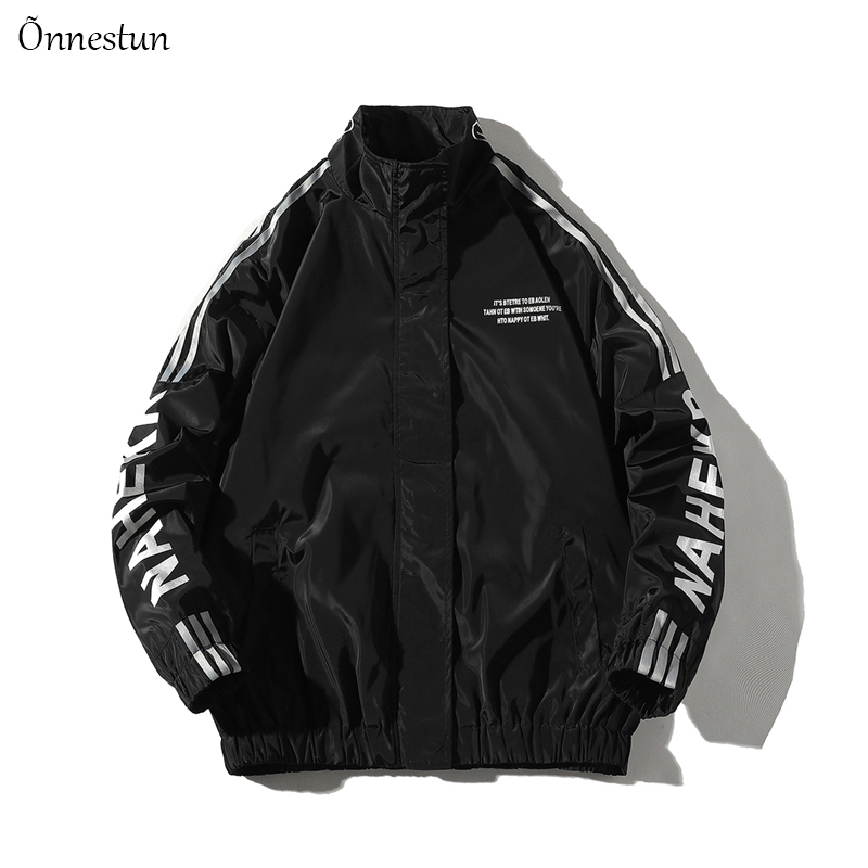 Onnestun Flying jacket Men Autumn Casual New Coat Jackets Man Hip Hop Oversized Mens Print Track Jacket Streetwear Man Outerwear