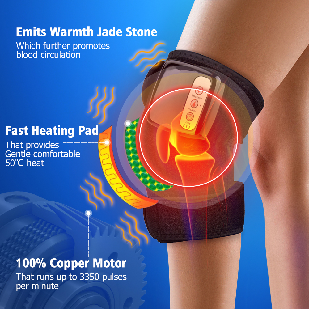 Joint Heating Therapy Massager Knee Shoulder Elbow Joint Physiotherapy Vibrate Massage Electric Heating Pads Christmas Gifts