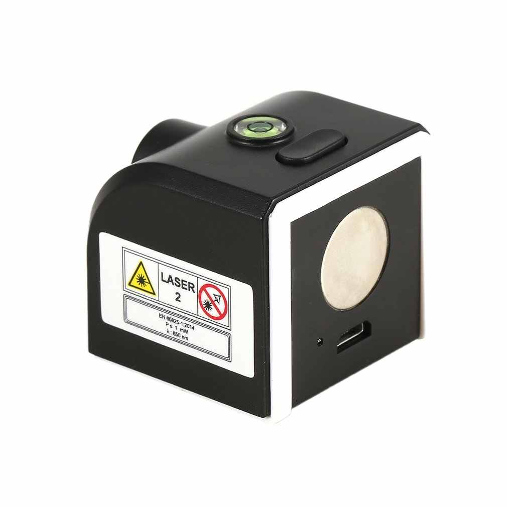 DBSUFV Borbede Portable Mini Cross Red Laser Levels Meter 2 Line 1 Point 650Nm Leveling Instrument With Led Indicator Magnet Fixation