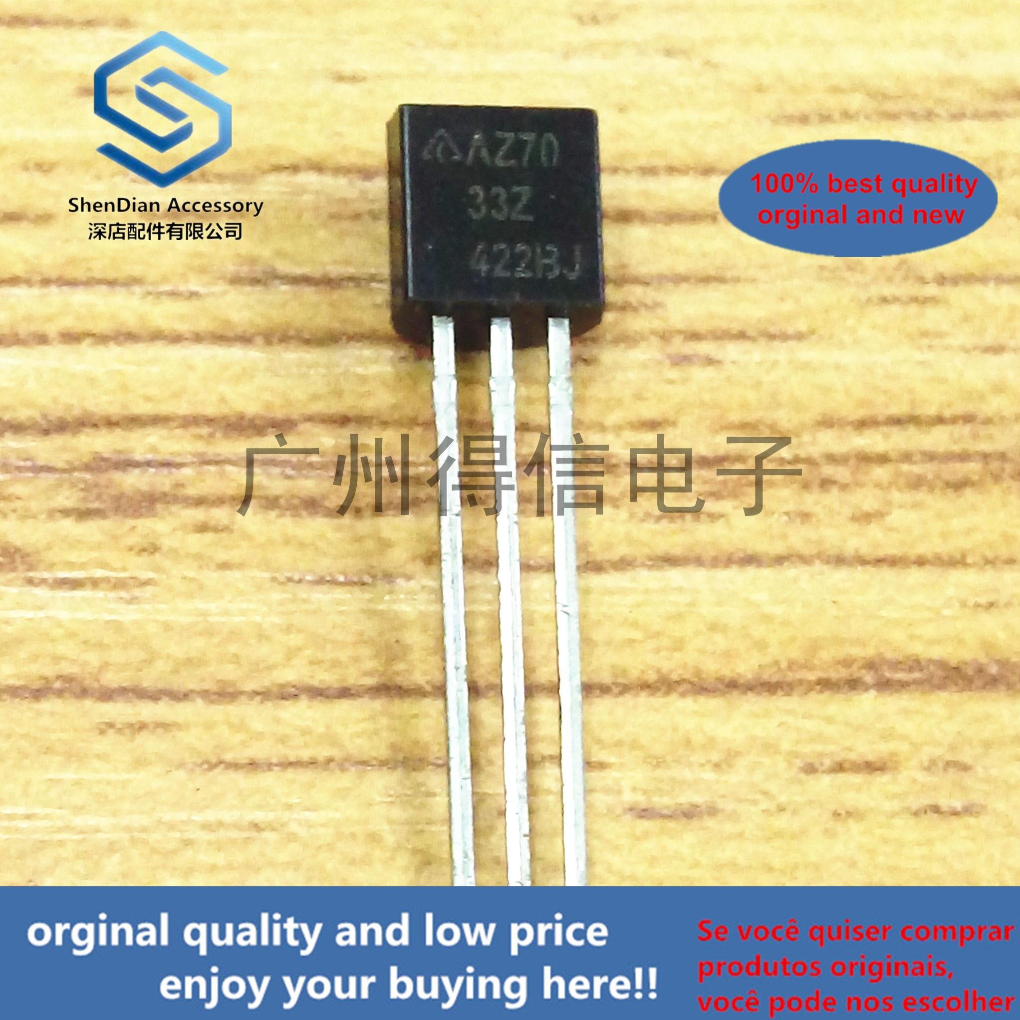10pcs 100% Orginal New AZ7033Z 7033 3.3V  TO-92 VOLTAGE DETECTOR Real Photo