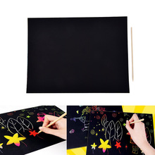 Painting-Paper Magic-Scratch with Drawing-Stick Baby Playing Toys Colorful Art A4 1sheet