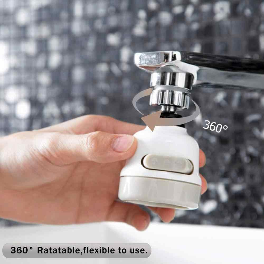 Кран на 360 градусов, аэратор для раковины, насадка для душа, кухонный подвижный кран, распылительная головка, фильтр брызг, диффузор, 3 режима, регулируемая насадка для крана