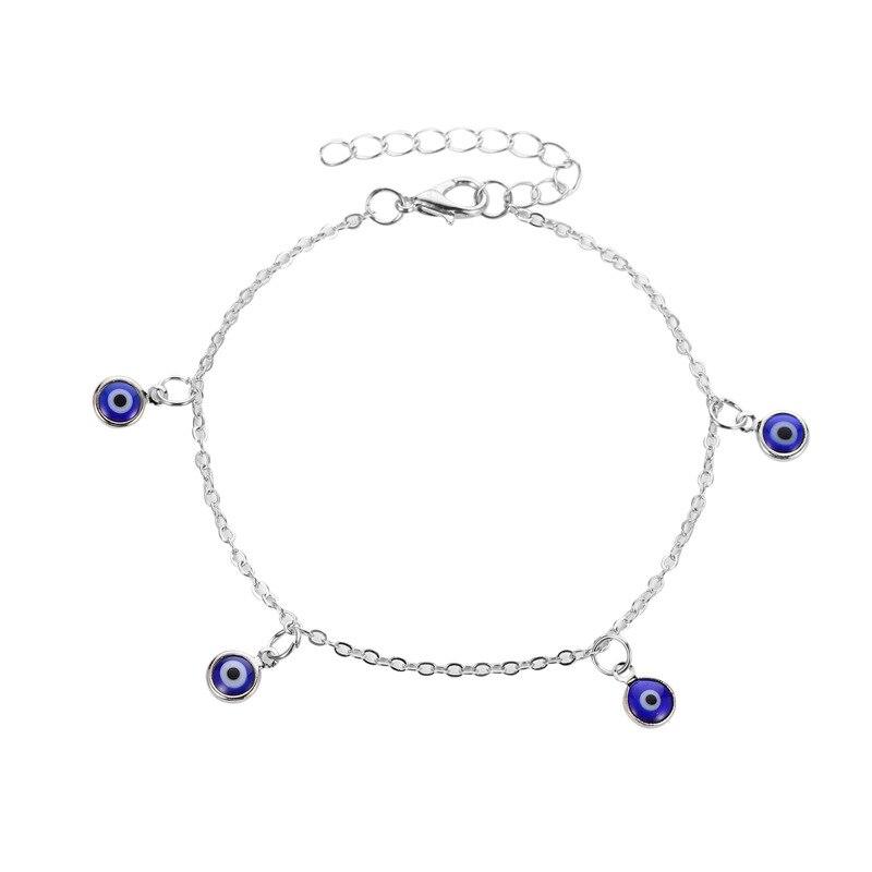 Bohemian Style Evil Eye Ankle Bracelet For Women Barefoot Sandals Anklets Bijoux Beach Jewelry Accesorios Mujer Leg Bracelet