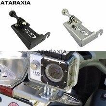 Para bmw r1200gs lc gs 1200 aventura r 1200 gs r 1200gs lc adv frente esquerda suporte para ir pro traço cam motocicleta