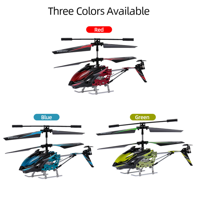 Wltoys XK S929-A RC Helicopter 2.4G 3.5CH with Led Light RC Helicopter Indoor Toys for Beginner Kids Children Blue Red Green 6