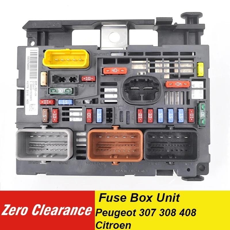 zeroclearance genuine fuse box unit assembly under bonnet 9809742880  9666700480 bsm r05=r20 for peugeot 307 308 408 for citroen fuses  -  aliexpress  aliexpress