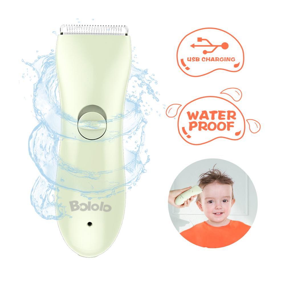 Bololo Baby Hair Clipper Kid Hair Trimmer Electric Super Quiet Cordless Waterproof Chargeable ABS Blade Hair Cuting Kit For Kids
