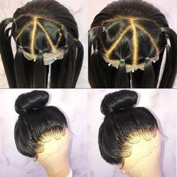 Прямо Glueless Синтетические волосы на кружеве человеческих волос парики для Для женщин 250% плотность бразильский Синтетические волосы на