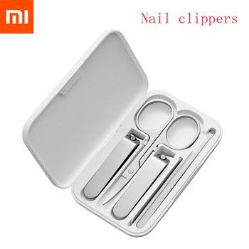 Xiaomi mijia 5 pçs/set manicure prego clippers pedicure conjunto kit de higiene de viagem portátil aço inoxidável cortador de unhas conjunto de ferramentas
