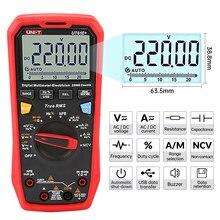 UNI-T ut61e + handheld multímetro digital profissional unidade true rms faixa automática 6000 contagens dc ac 1000v grande teste de capacitância