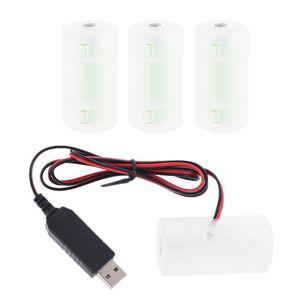 Image 1 - D סוללה Eliminator USB אספקת חשמל כבל יכול להחליף 1 כדי 4pcs LR20 D סוללה