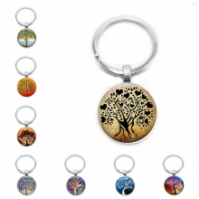 цены на 2019 New Hot Sale! Tree of Life Glass Bullet Retro Trend Keychain, Color Tree of Life Classic Style Keychain  в интернет-магазинах