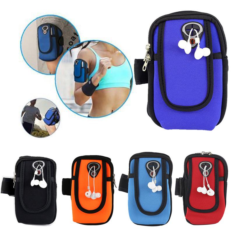 Outdoor Sports Running Mobile Multifunctiona Arm Pack Sports ArmSingle Shoulder Crossbody Hanging Neck Wallet Cell Phone Key Bag