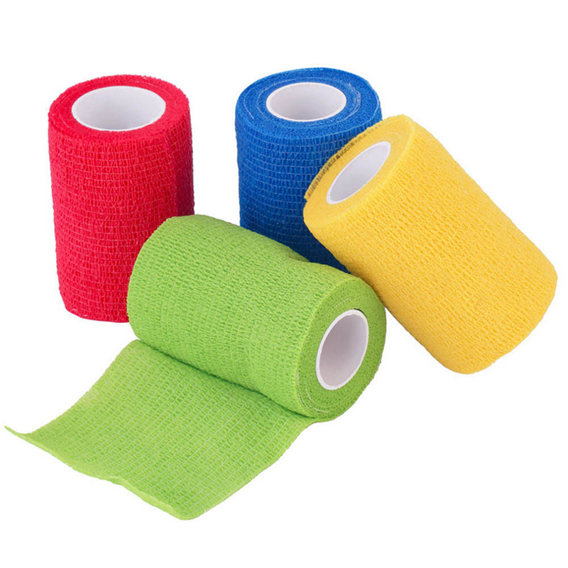 2.5cm*5m Security Protection  Waterproof Self Adhesive Elastic Bandage First Aid Kit Nonwoven Cohesive Bandage