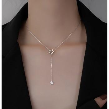 Woman Choker Drop Charm Necklaces Jewelry 925 Silver Jewelry