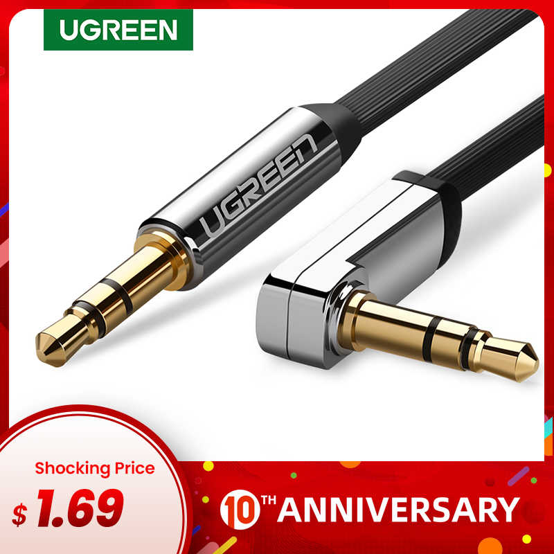 Ugreen Kabel AUX Jack 3.5 Mm Audio Kabel 3.5 Mm Jack Kabel Speaker untuk JBL Headphone Mobil Xiaomi Redmi 5 Plus onePlus 5 T Kabel Aux