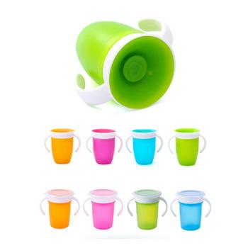 360 stopni może być obracany magiczny kubek dziecko nauka kubek do picia szczelny dziecko kubek wody butelka 260ML tanie i dobre opinie MOONBIFFY W wieku 0-6m 7-12m 13-24m 25-36m 4-6y 7-12y CN (pochodzenie) Naczynia do picia CE UE Babies Stałe