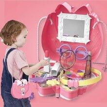 Toy Mirror Cosmetic Makeup-Set Pretend-Play-Set Best-Gift-Set Kids Beauty Little-Girl