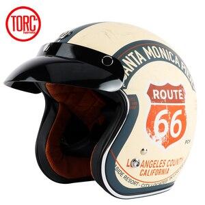 Image 5 - בציר moto rcycle קסדת TORC T50 פתוח פנים DOT אישר חצי קסדת רטרו moto casco capacete moto ciclistas capacete