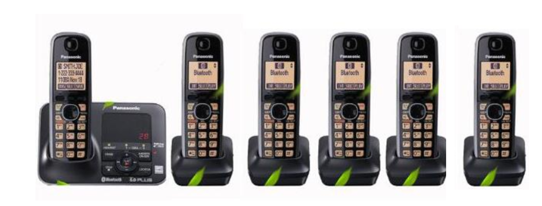 Digital Cordless Phone With Bluethooth Answer Machine Handfree Voice Mail Backlit LCD Wireless Telephone For Office Home Black|Telephones| |  - title=