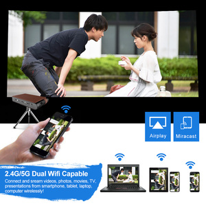 Image 4 - S6W DLP MINI Projektor Aufladbare WIFI Tragbare 3D Volle Hd Beamer für 1080P Smart Mobile Home Cinema Theater Miracast airplay