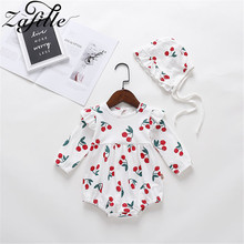 baby girl dress summer children clothing 2017 baby girl clothes cute newborn baby clothes roupas bebe infant kids dresses ZAFILLE Baby Girl Clothes Summer Cute Girls Clothing Newborn Infant Baby Romper Cherry Printed Kids Clothes Cotton Baby Jumpsuit