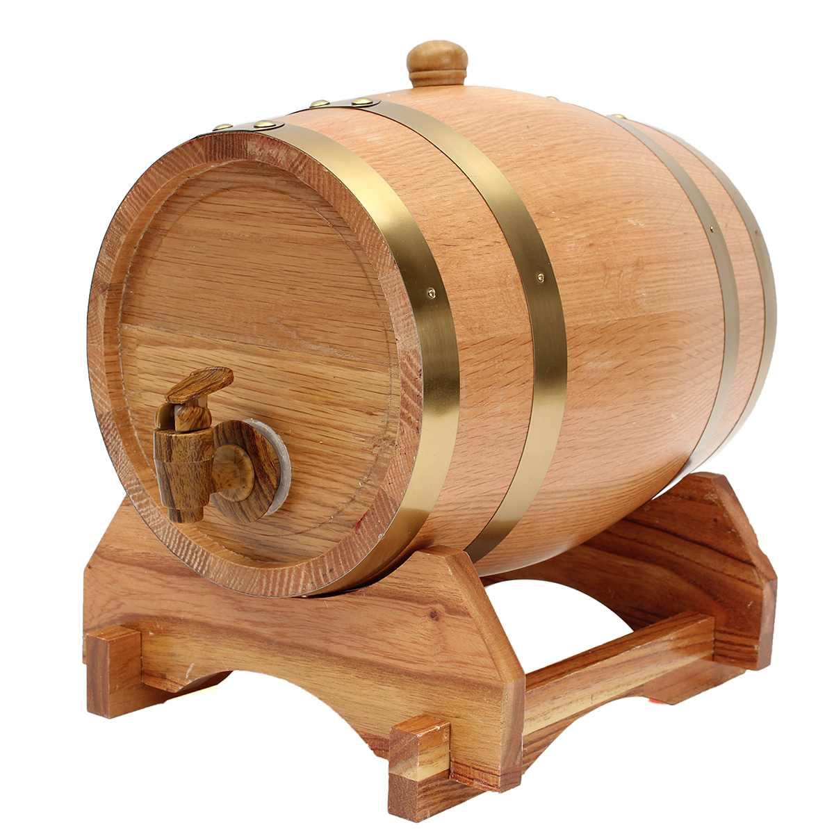 Barril de cerveza de 5L, barril de vino de madera de roble de estilo antiguo, barril de vino para whisky, barril decorativo de puerto de ron, barril para Hotel, restaurante
