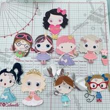 Cute Baby Girl Metal Cutting Dies Scrapbooking Craft Dies For Stencils Embossing Paper Crads Making 2021 New