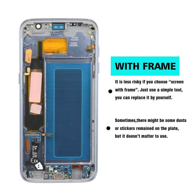 100% الأصلي 5.5 ''شاشة لسامسونج غالاكسي S7 حافة LCD عرض G935F SM-G935FD اللمس محول الأرقام الجمعية استبدال أجزاء