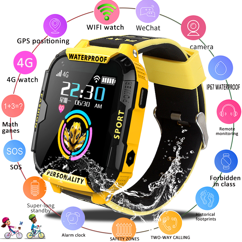 2019 New 4G Children Smart Watch GPS Positioning Anti lost Kid smartwatch WiFi Baby Watch Video Call Waterproof Kids Watches+Box|Smart Watches| |  -