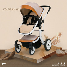 Free shipping Luxury Baby Carriage High Landscape Can Sit Four Wheel Shock Absorber Folding Two-way Baby Stroller With Car Seat baby stroller baby stroller folding shock absorber high landscape can be two way