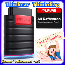 THINKCAR 4.0 version ThinkDiag Car Diagnostic Tool Free 1 Years Test ECU Coding All System Code Reader Auto Scanner 15 Reset