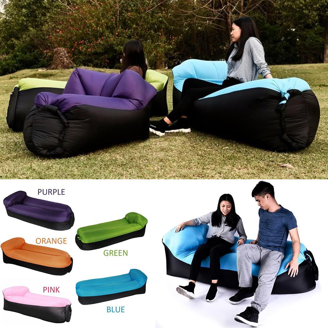 Inflatable-Bed Aerated Lawn Outdoor with Pillow Camping Hiking Portable Waterproof Mattress