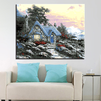 Country Villas DIY Painting By Numbers Kit Landscape Acrylic Paint By Numbers For Adults Unique Gift Home Decors Art