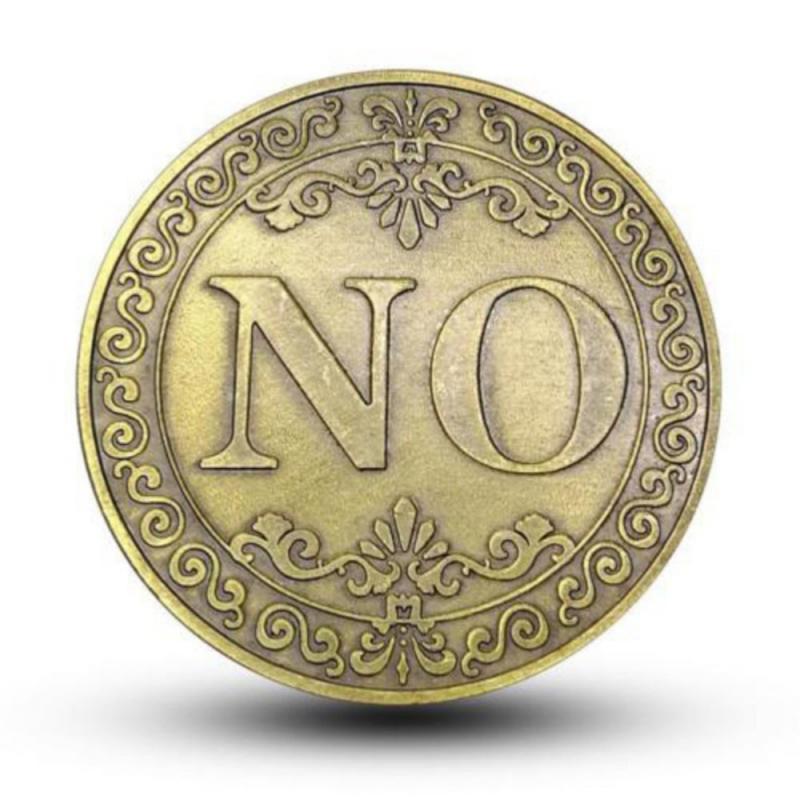 Новый сплав «да» или «нет» решение памятная монета коллекционные монеты художественный сувенир друзей подарки Классический фокусы игрушк...