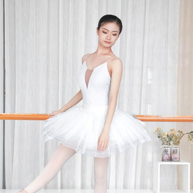 Image 2 - Women Girls Sexy Black White Ballet Dance Leotard Camisole Gymnastics Leotards Adults Bodysuit Swimsuit S,M, L,XL,XXL For WomenBallet   -