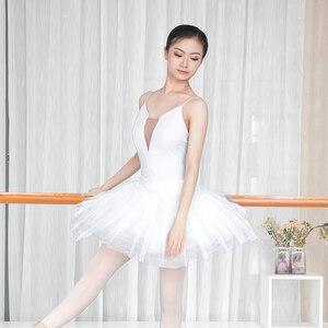 Image 2 - Women Girls Sexy Black White Ballet Dance Leotard Camisole Gymnastics Leotards Adults Bodysuit Swimsuit S,M, L,XL,XXL For Women