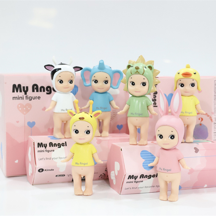 6 kinds Doll my Sonny Angels Figure Laduree Collection PVC Figurine Sonny little Angel Dolls patrol Toys For Kids poni