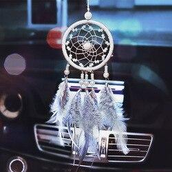 Samochód wiszący ornament dekoracje samochodowe Dreamcatcher najwyższej klasy zawieszka na samochód zawieszka na lusterko wsteczne dekoracja mężczyźni i Wo w Ozdoby od Samochody i motocykle na