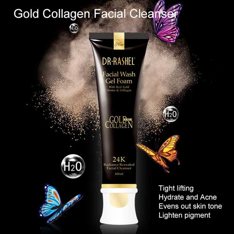 Dr · Rashel 24K Gold Collageen Gezichtsreiniger Whitening Olie Controle Hydraterende Reinigingsmelk Diepe Reiniging Voor Schoonheid